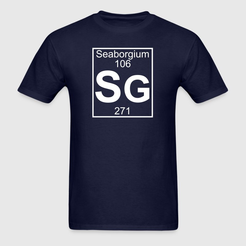 Element 106 - sg (seaborgium) - Full - Men's T-Shirt