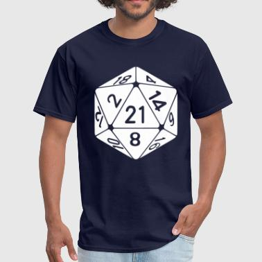21 Sided 21st Birthday D20 Fantasy Gamer Die - Men's T-Shirt