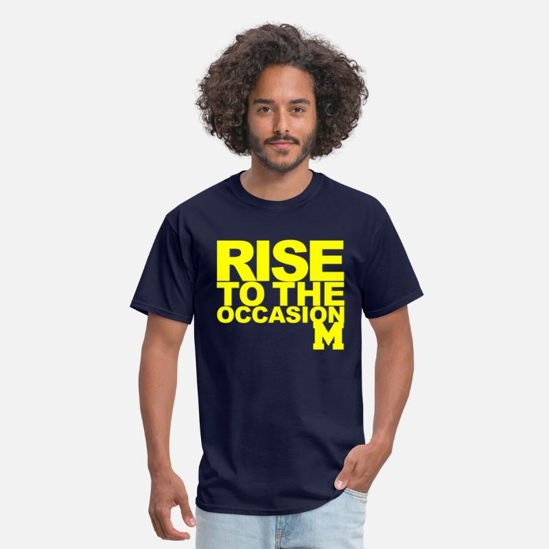 Wolverines T-Shirts - Michigan Rise to the Occasion Shirt - Men's T-Shirt navy