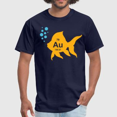 Periodic Table Elemental Gold Fish - Men's T-Shirt