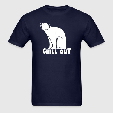 Chill Out Polar Bear - Men's T-Shirt
