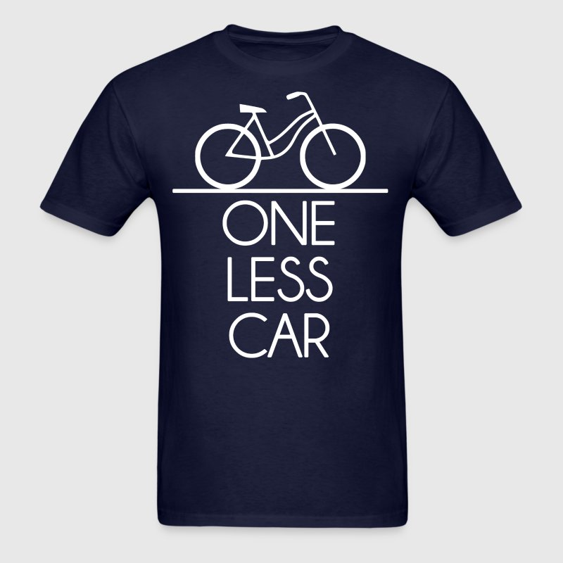 One Less Car Earth Friendly Bicycle - Men's T-Shirt