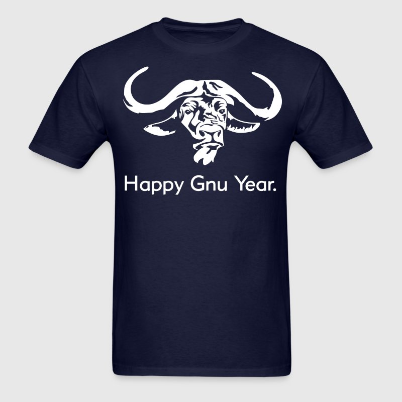 Happy Gnu Year - Men's T-Shirt