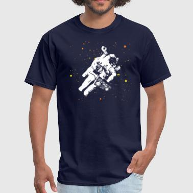Funky Retro Space Jamz Astronaut - Men's T-Shirt