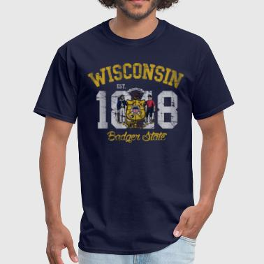 Vintage Wisconsin Wisconsin Badger State - Men's T-Shirt