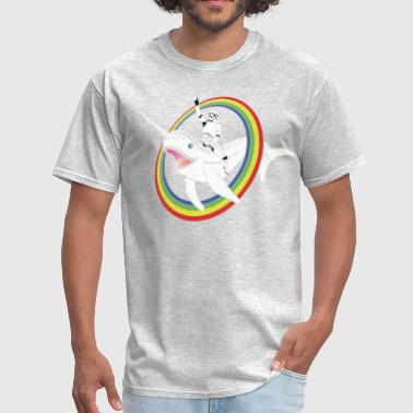 Narwhal Rainbow Stormtrooper - Men's T-Shirt
