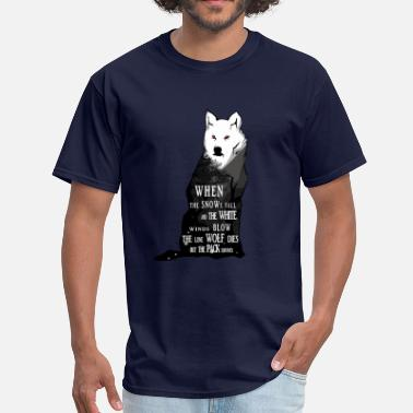Falling Snow White wolf - Snows fall - Men's T-Shirt