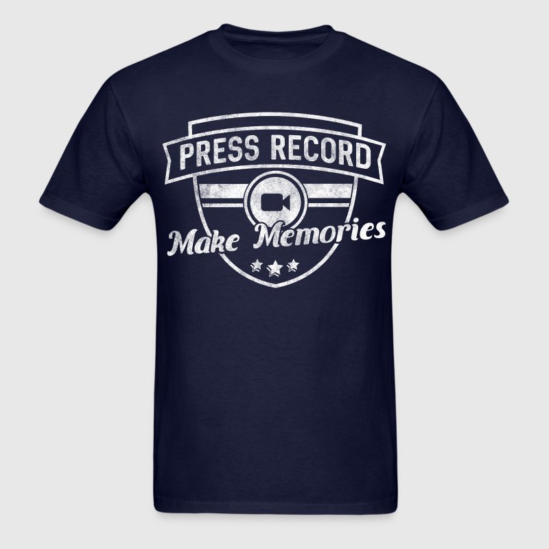 pressrecord_makememories2 - Men's T-Shirt