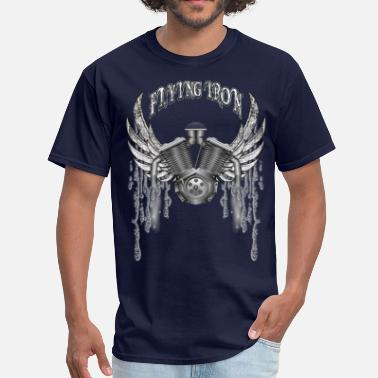 Flying Motorcycle Flying V2 Motorcycle Engine - Men's T-Shirt
