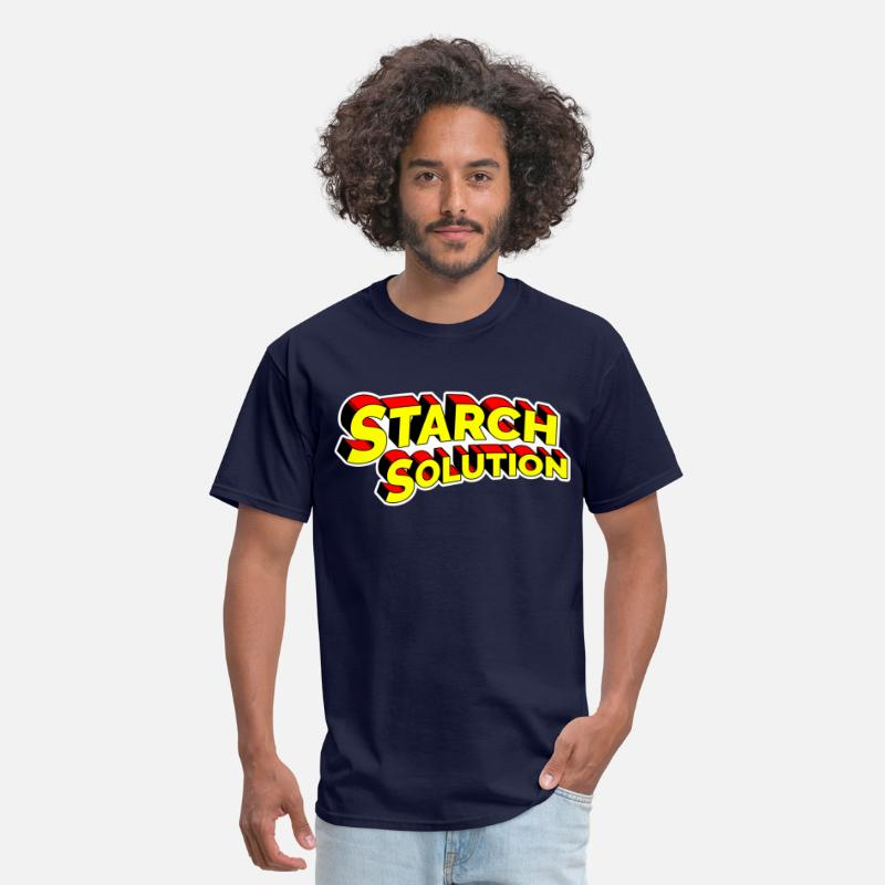 Vegan T-Shirts - Starch Solution Starchivore - Men's T-Shirt navy