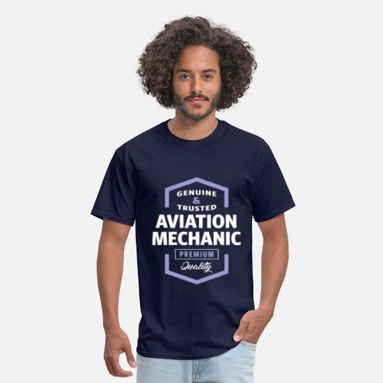 Aviation T-Shirts - Aviation Mechanic Logo Gift Ideas - Men's T-Shirt navy