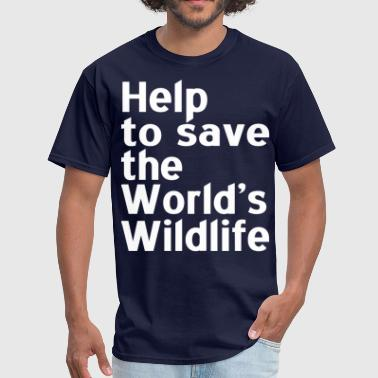 Help to Save the world's wildlife - Men's T-Shirt