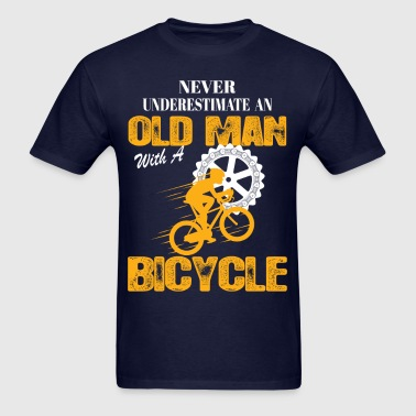Bicycle Old Man - Men's T-Shirt