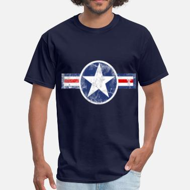 Military Star Vintage Army Air Corps Patriotic Star - Men's T-Shirt