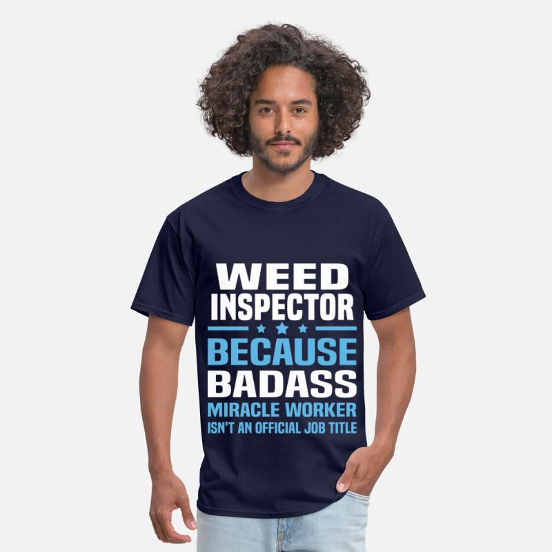 Ugly SweaterWeed Inspector T-Shirts - Weed Inspector - Men's T-Shirt navy
