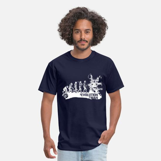Geek T-Shirts - Evolution - Men's T-Shirt navy