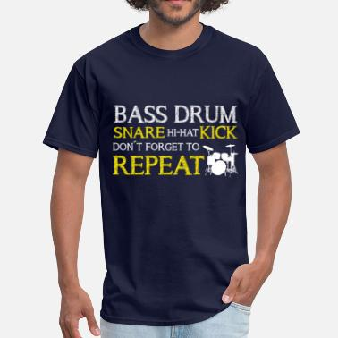 Marching Bass Drum Bass Drum Repeat - Men's T-Shirt