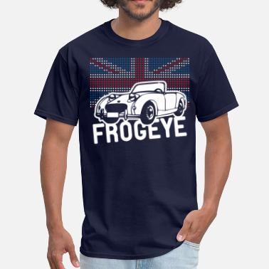 Bugeye Austin-Healey Frogeye Sprite mk1 Union Jack illustration and text - Men's T-Shirt