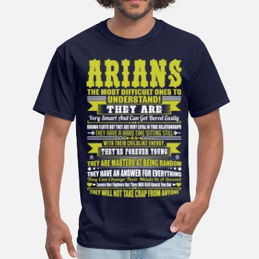 Arian Arians Difficult Ones To Understand Zodiac Tshirt - Men's T-Shirt