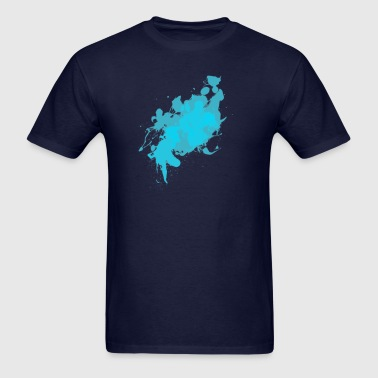 Cyan Splat - Men's T-Shirt