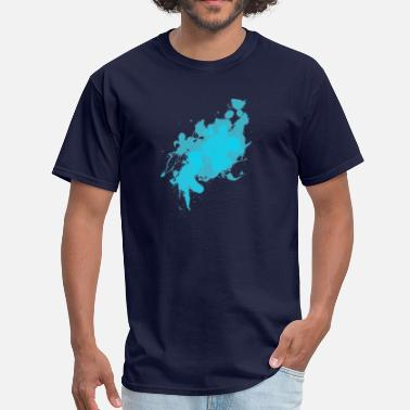 Cyan Cyan Splat - Men's T-Shirt