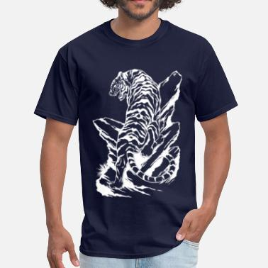 White Tiger tiger - Men's T-Shirt