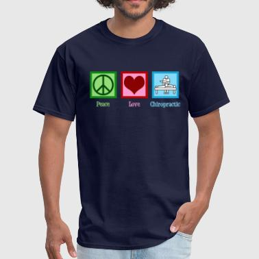 Heart Peace Peace Love Chiropractic - Men's T-Shirt