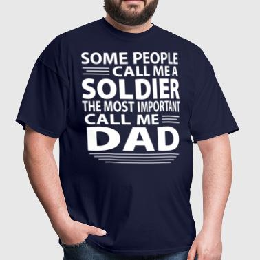 Soldier Dad - Men's T-Shirt
