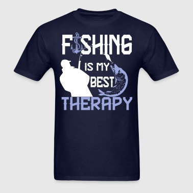 Fishing Is My Best Therapy - Men's T-Shirt