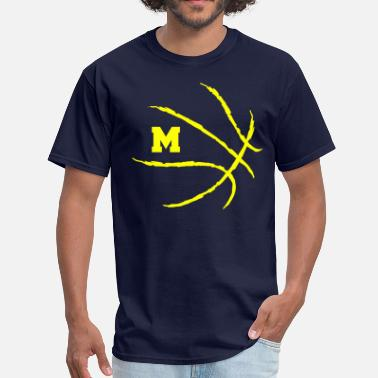 Wolverines Basketball Michigan Basketball Logo - Men's T-Shirt