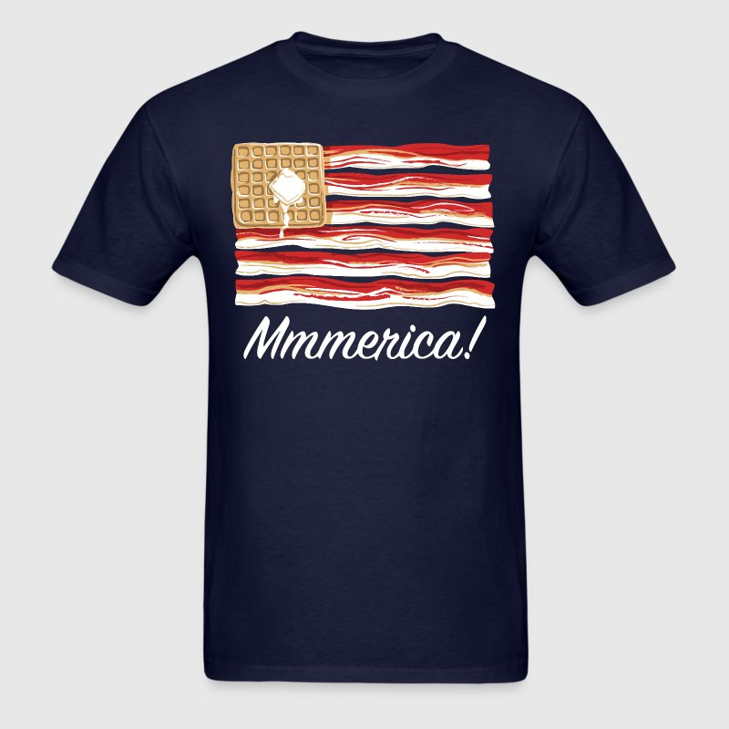 Mmmerica - Bacon Flag - Men's T-Shirt