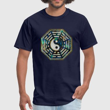 Abalone Shell Abalone and Gold Bagua - Men's T-Shirt