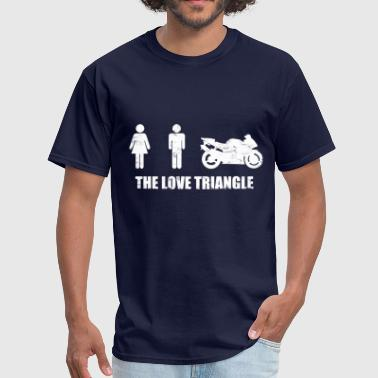 biker_the_love_triangle - Men's T-Shirt