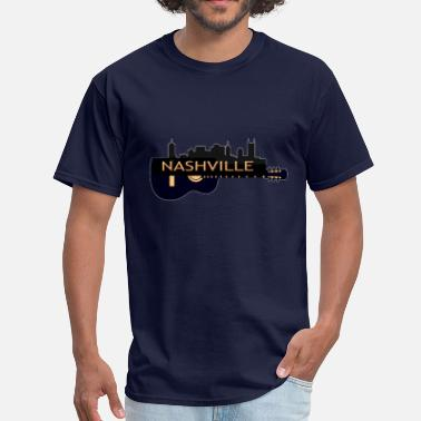 Nashville Nashville TN Guitar (02) - Men's T-Shirt