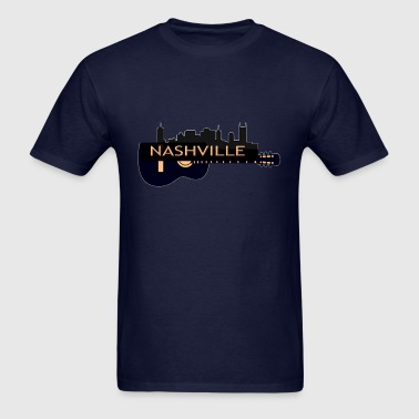 Nashville TN Guitar (02) - Men's T-Shirt