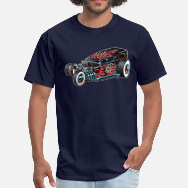 Lucky 13 Lucky 13 Hot Rod Car Toon - Men's T-Shirt