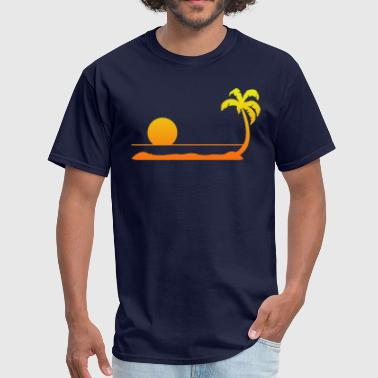 Tropical Sunset - Men's T-Shirt
