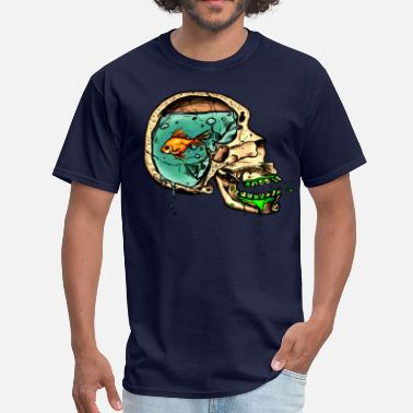 Aquarium fish for brains - Men's T-Shirt