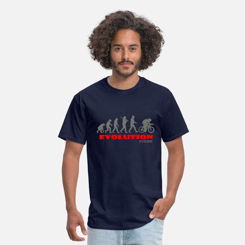 Cycling Ape Of Evolution Bike T-Shirts - Cycling ape of Evolution Bike - Men's T-Shirt navy