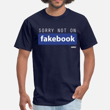 Wam not on fakebook by wam - Men's T-Shirt
