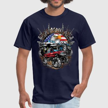 Mega Mud Trucks USA - Men's T-Shirt