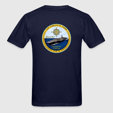 USS Gerald R Ford Crest - Men's T-Shirt