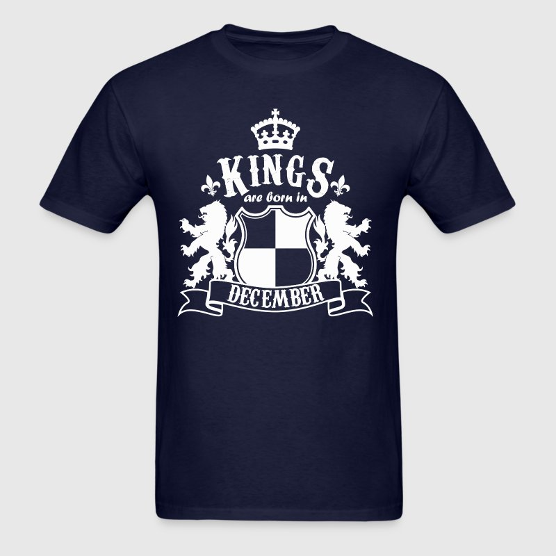 Kings are born in December - Men's T-Shirt