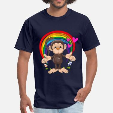 Rainbow Baby monkey baby rainbow - Men's T-Shirt