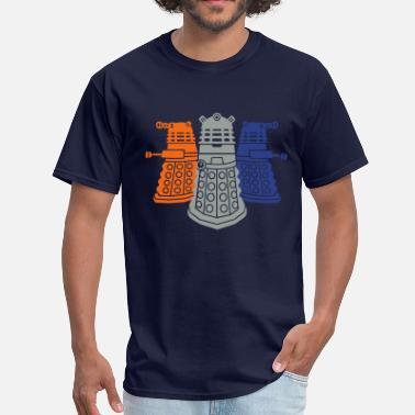 Geek daleks 3 colors - Men's T-Shirt
