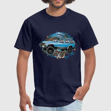 XJ Jeep Cherokee Blue - Men's T-Shirt