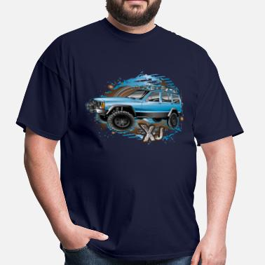 Jeep Cherokee Offroad Xj XJ Jeep Cherokee Blue - Men's T-Shirt