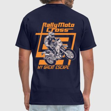 Rally Motocross Escape - Men's T-Shirt