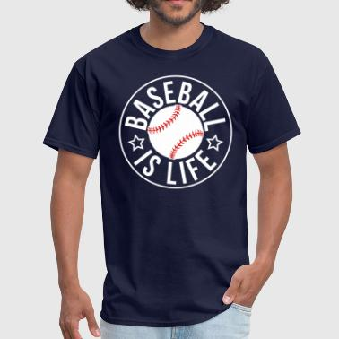 Varsity Baseball Baseball is Life - Men's T-Shirt