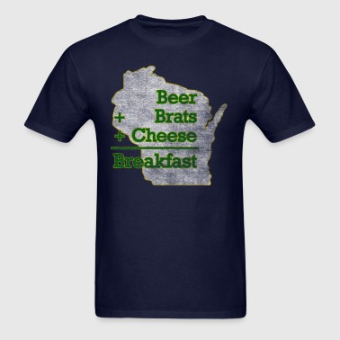 Beer Brats Cheese Breakfast Milwaukee Clothing - Men's T-Shirt
